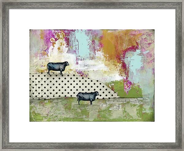 Two Bulls Framed Print
