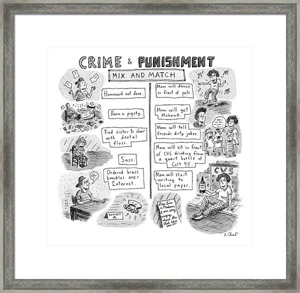 Two Columns Contain Entries. The Left Column Framed Print