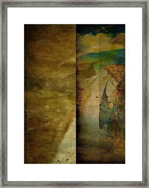 Two Delicate Screens Framed Print