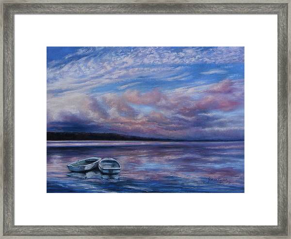 Two Dorys Waterscape  Framed Print