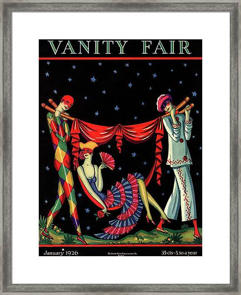 Two Figures Carrying A Third Framed Print