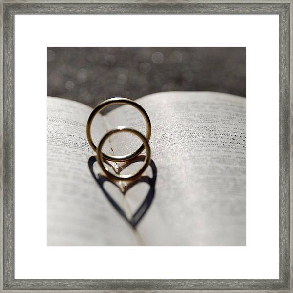 Two Hearts As One Framed Print