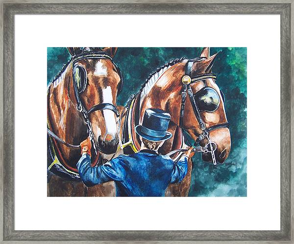 Two In Hand Framed Print