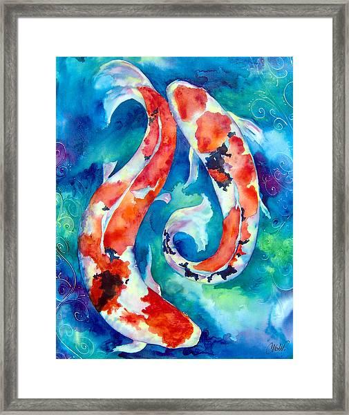 Two Koi Fish Framed Print