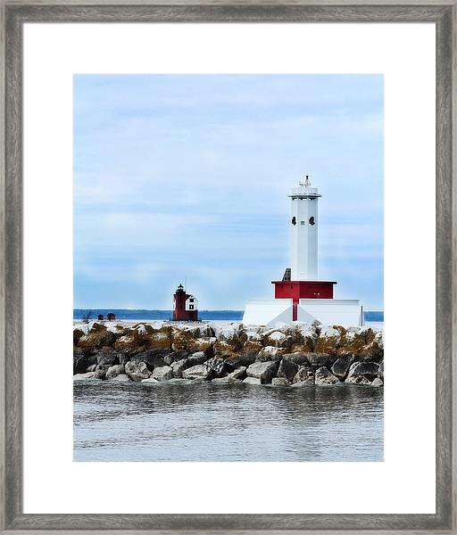 Two Lighthouses Framed Print