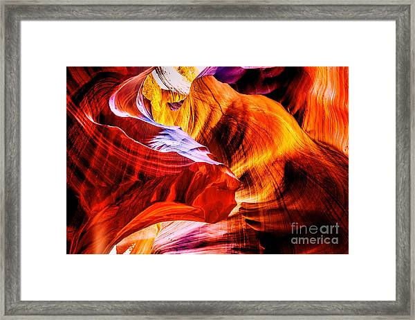 Two Lions Dance Framed Print by Az Jackson