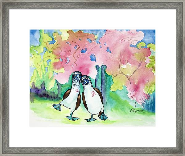 Two Little Boobies Support Breast Cancer Awareness Week Framed Print