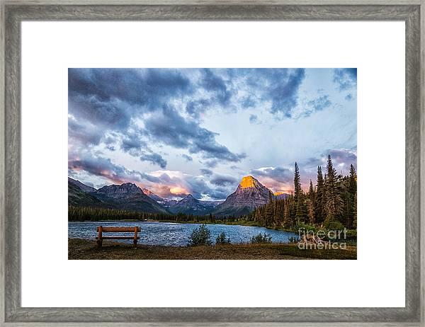 Two Medicine Lake Sunrise Framed Print