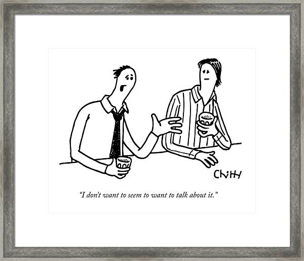 Two Men Drinking At A Bar Framed Print