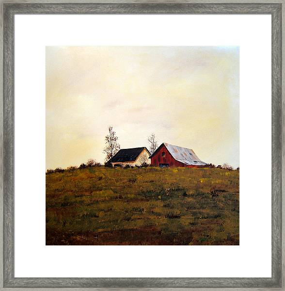 Two On A Hill Framed Print