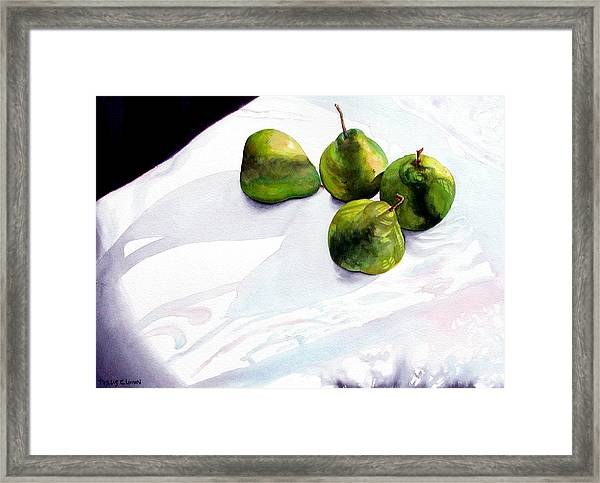 Two Pair Of Pears Framed Print