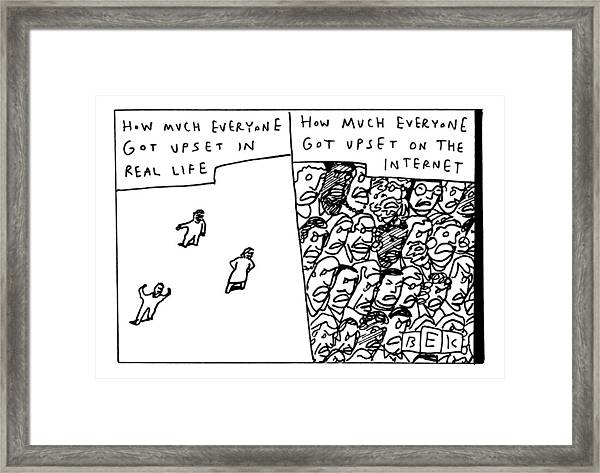 Two Panels How Much Everyone Got Upset In Real Framed Print