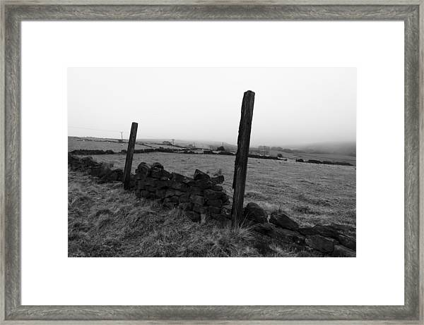 Two Posts Framed Print