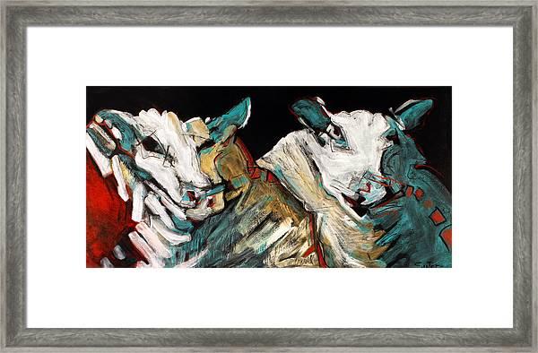 Two Rams Framed Print