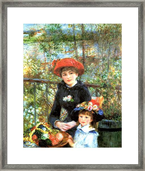 Two Sisters On The Terrace Framed Print