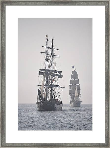 Two Tall Ships In Door County Framed Print