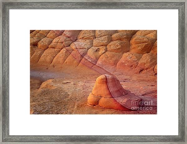 Two Tone Rock Framed Print