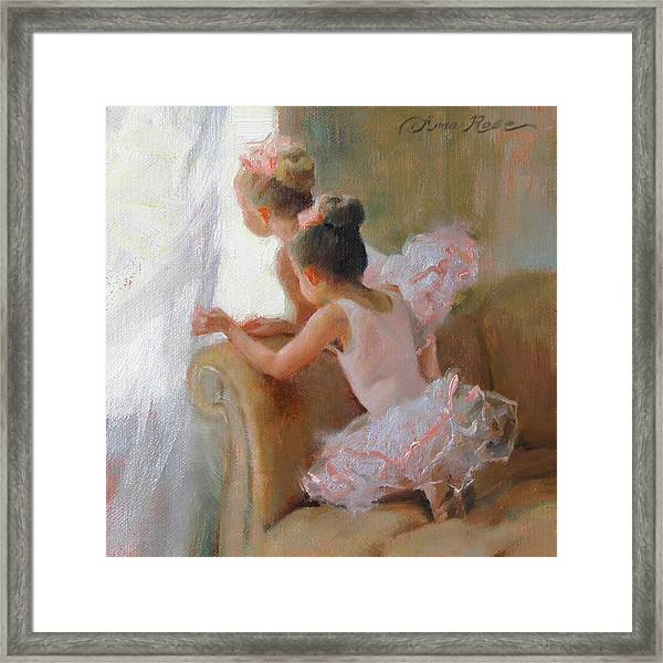Two Tutus Framed Print by Anna Rose Bain