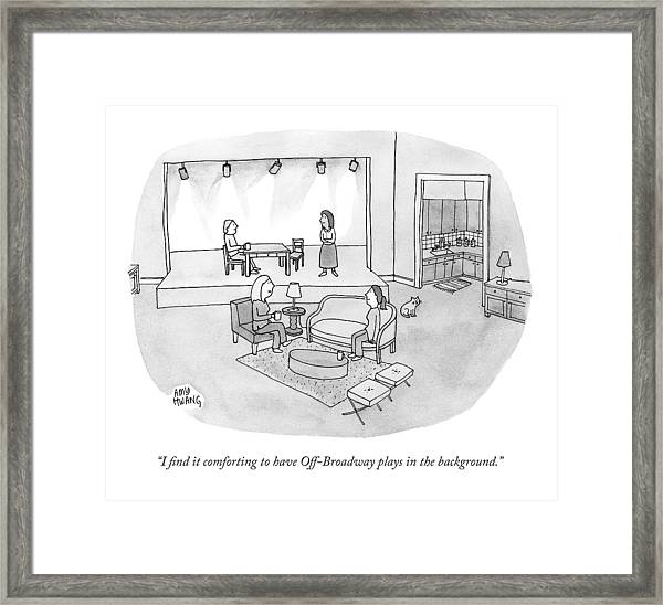 Two Women Chat In A Living Room Framed Print