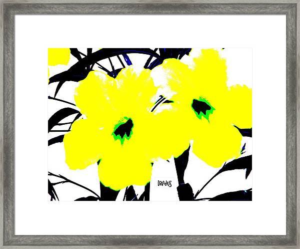 Two Yellow Jacks W Logo Framed Print