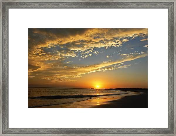 Tybee Dawn Framed Print