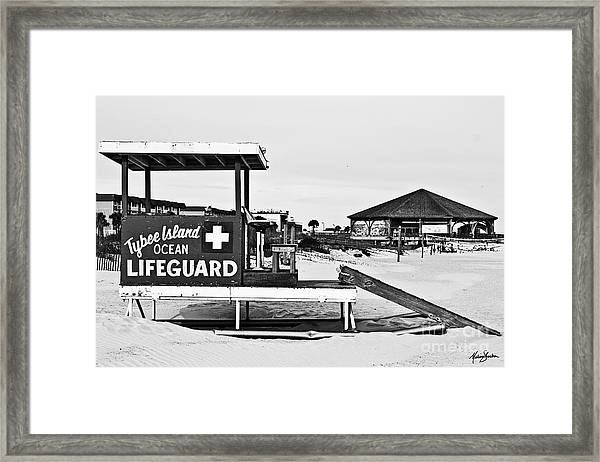 Tybee Island Lifeguard Stand Framed Print
