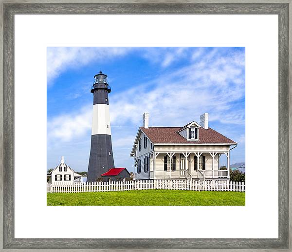 Tybee Island Lighthouse At Dawn Framed Print