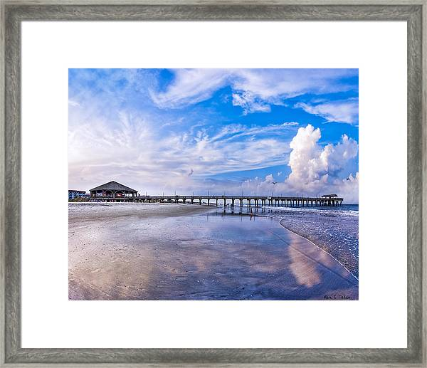 Tybee Island Pier On A Beautiful Afternoon Framed Print