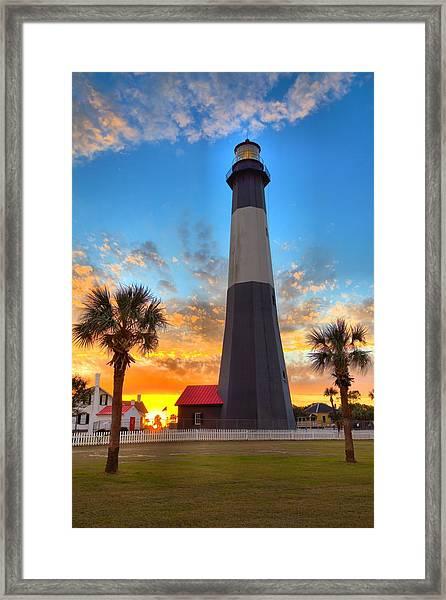 Tybee Island Sunrise Framed Print