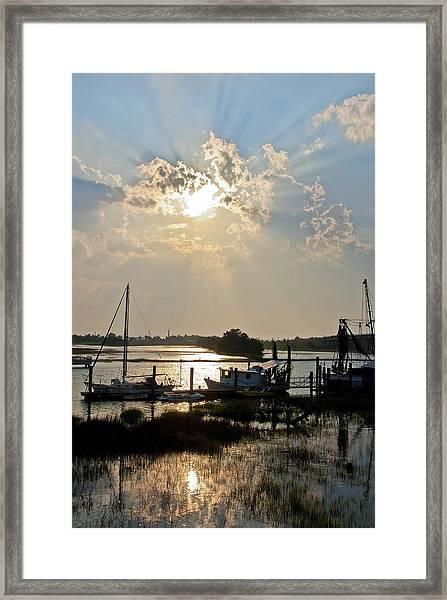 Tybee Sunset Framed Print