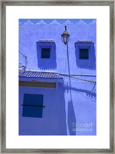 Typical Blue Facade In The Medina Of Asilah On Northwest Tip Of Atlantic Coast Of Morocco Framed Print by PIXELS  XPOSED Ralph A Ledergerber Photography