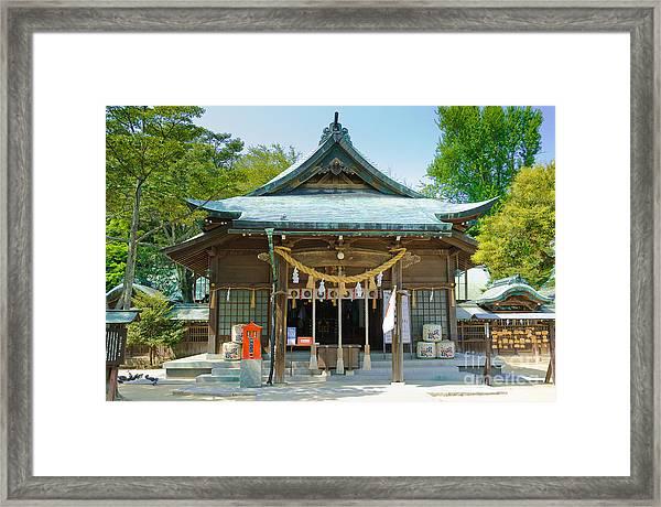 Typical Japanese Shinto Shrine Entrance Framed Print