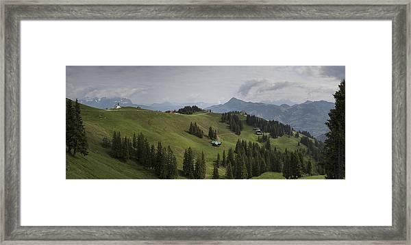 Tyrolean Panorama Framed Print by Nigel Jones
