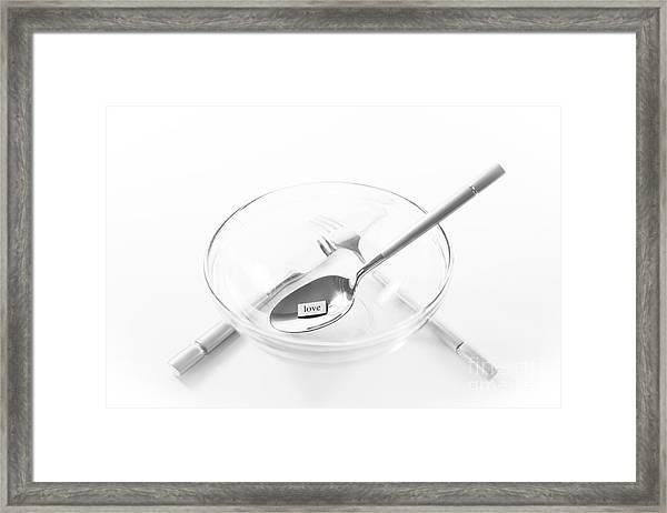 U R What U Eat- Love Framed Print