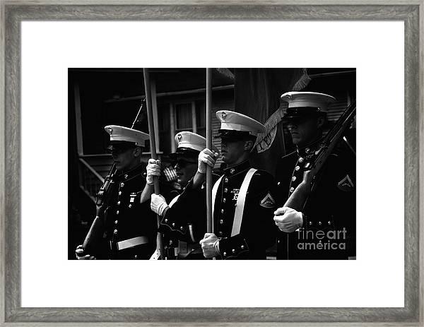 U. S. Marines - Monochrome Framed Print