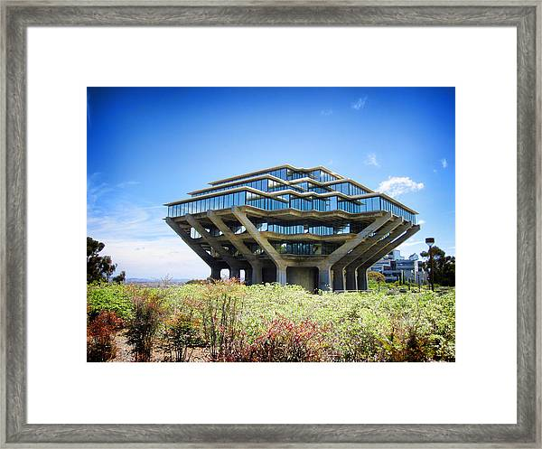 Ucsd Geisel Library Framed Print