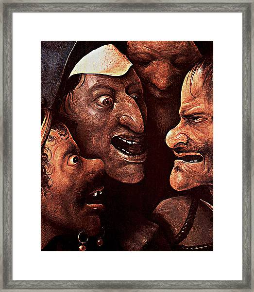 Ugly Faces Framed Print
