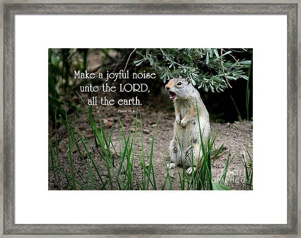 Uinta Ground Squirrel - Psalm 98 Framed Print