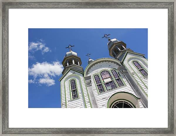 Ukrainian Orthodox Church - Wroxton Framed Print