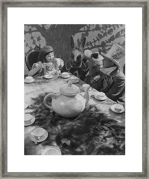 Ula Sharon And Carl Randall Re-enacting Scene Framed Print