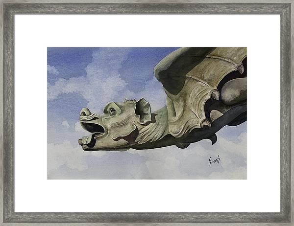Ulmer Munster Gargoyle Framed Print