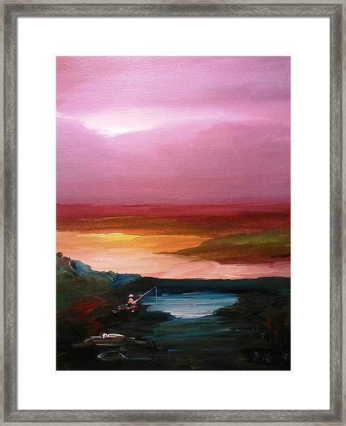 Framed Print featuring the painting Ultimate Paecefulness  by Ray Khalife