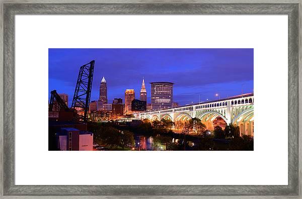 Ultra Rez Clevelands Best View Panorama  Framed Print