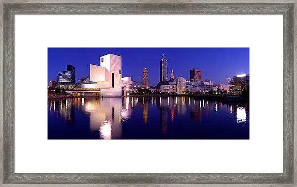 Ultra Rez Cleveland's North Shore Framed Print