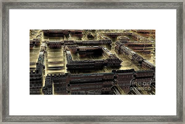 Ultra-urban Framed Print by Bernard MICHEL