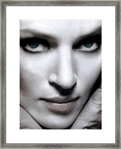 Uma Thurman Framed Print