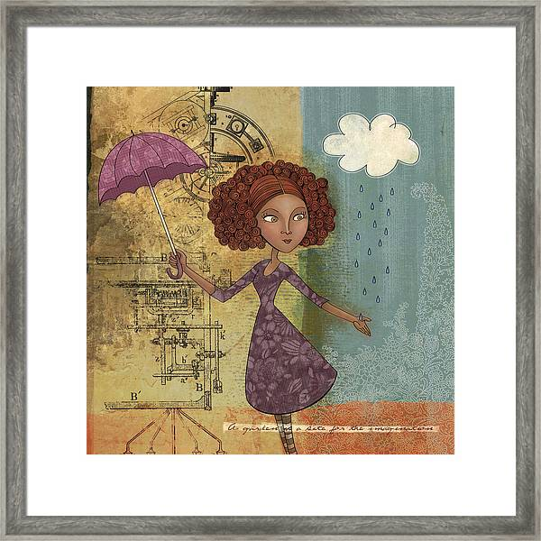 Umbrella Girl Framed Print