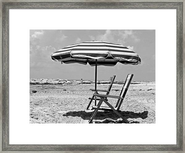 Umbrella Shade Framed Print