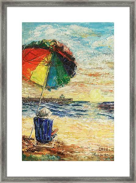 Umbrella Sunrise Framed Print