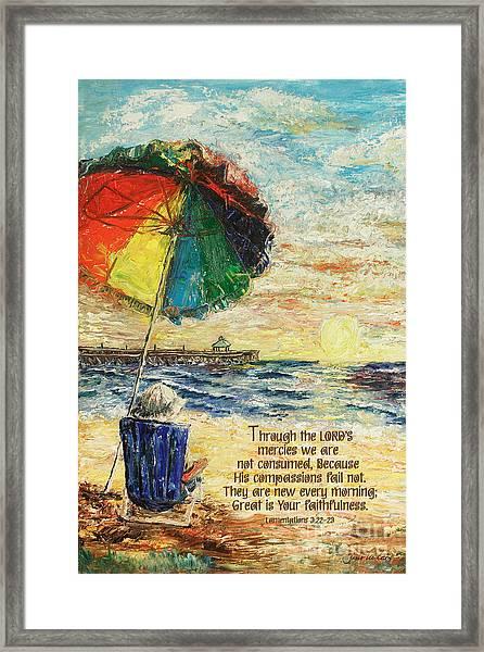Umbrella Sunrise Lamentations 2 Framed Print